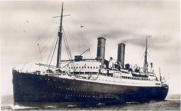 El SS Montclare en su época de buque civil de pasaje