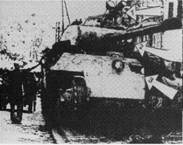 Foto manipulada de un Panther con la llamada solución B