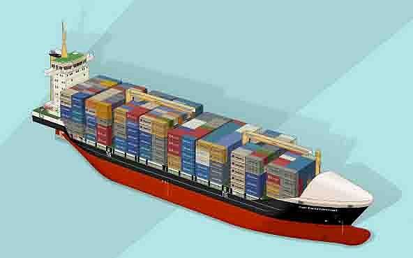 Maquetas y modelismo en papel puerta contentores barcos civiles - Contenedores de barco ...