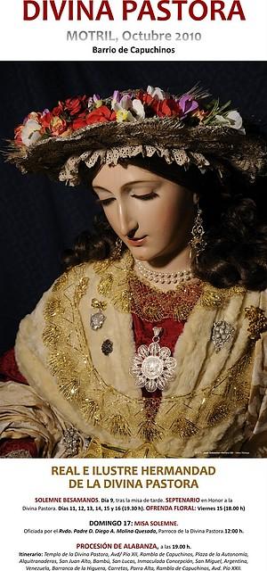 Cartel de los cultos y procesión de la Divina Pastora. Foto de sinelabeconcepta.mforos.com
