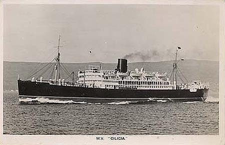El Cilicia como buque civil de pasaje
