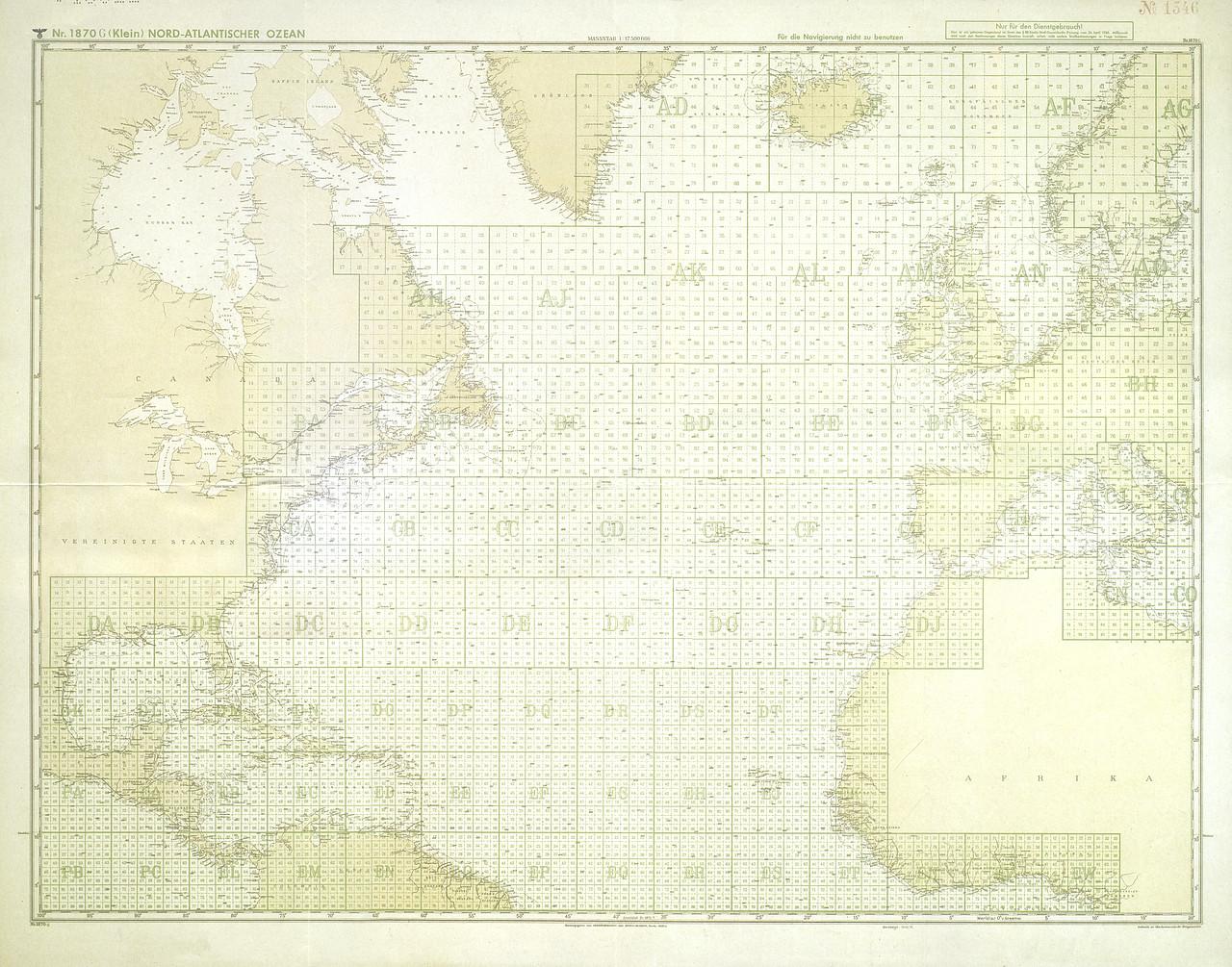 Cuadrantes que incluyen toda la zona cubierta por la mar