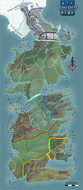 Mapa del risk juego de tronos  Galera de bharnt  Fotos