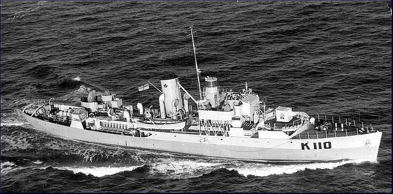 La corbeta canadiense del tipo flower HMCS Shediac