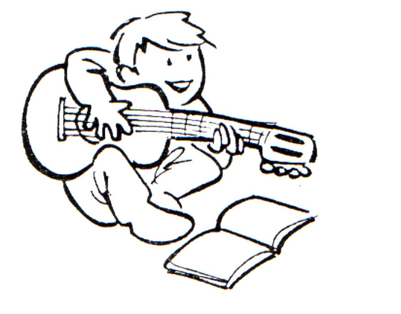Los Niños Tocando Guitarra Imagenes Para Colorear Imagui