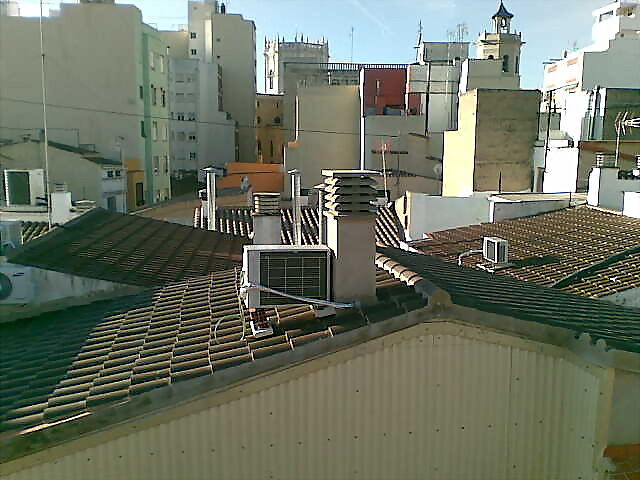 Soporte aire acondicionado tejado