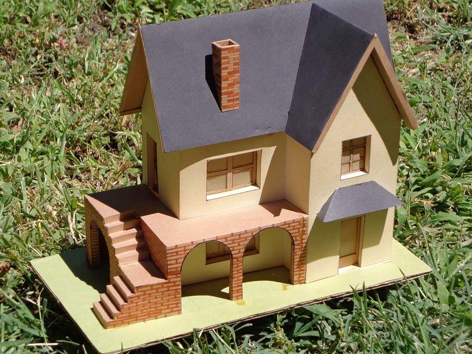 Maquetas y modelismo en papel chalet alpino arquitectura - Maquetas de chalets ...