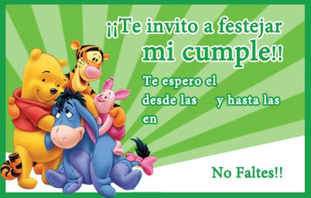 Tarjeta De Cumpleaños Invitacion Winnie Pooh Galería De
