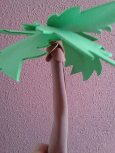 Como hacer una palmera de goma eva imagui - Como hacer cuadros de goma eva ...