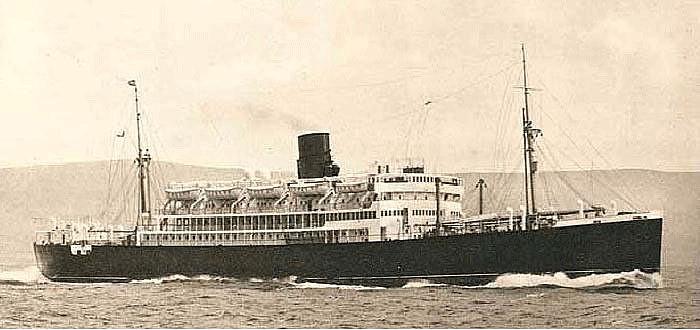 El Circassia, gemelo del Cilicia en su época de buque civil de pasaje