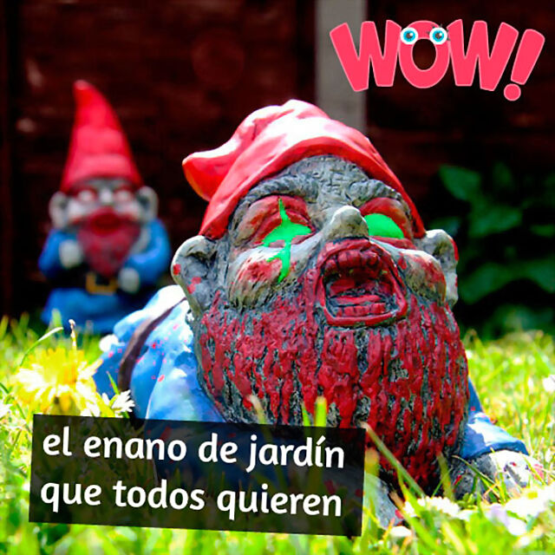 Enano de jardín zombie de terracota