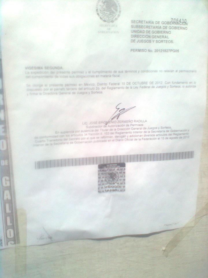 Permiso Otorgado en el Estado de México 265098CEB93550958E992950958E06