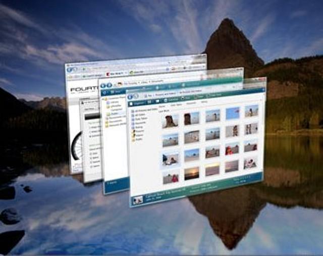 Windows Vista aero.