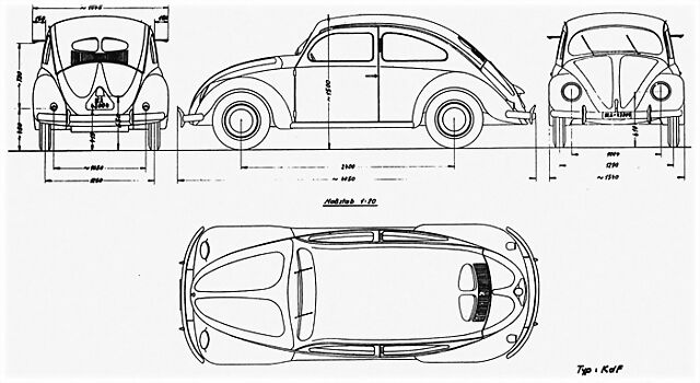 volkswagen escarabajo dibujo