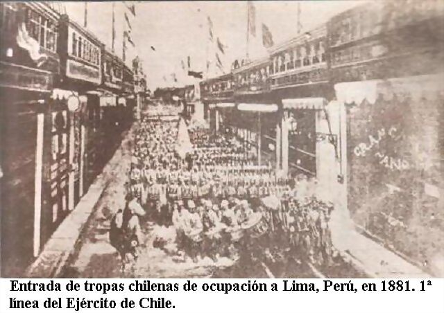 RAZONYFUERZA - Victoria y Ocupación Chilena en Lima en 1881 - La Guerra del  Pacífico