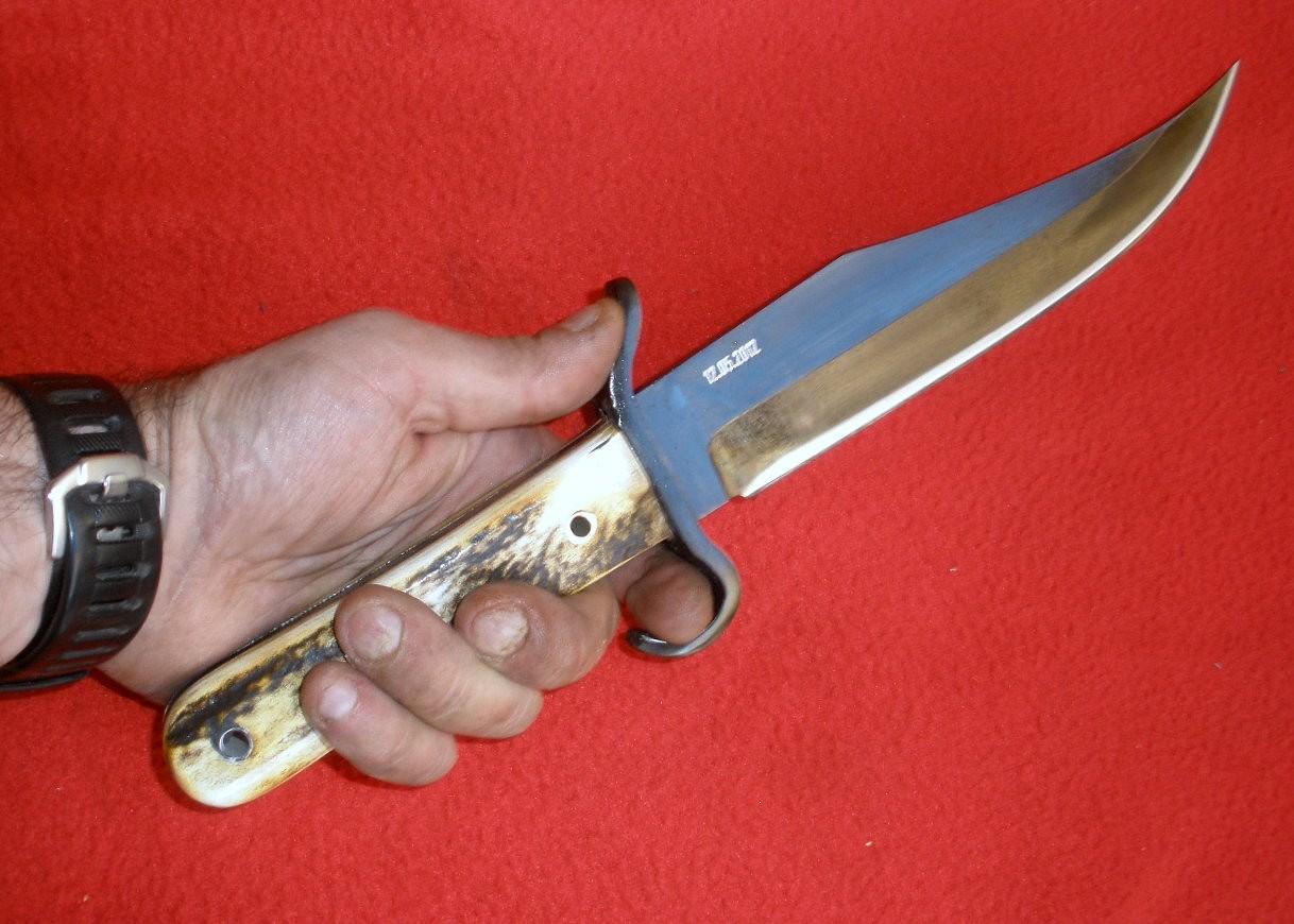 cuchillos artesanales bowie de frontera rustico y