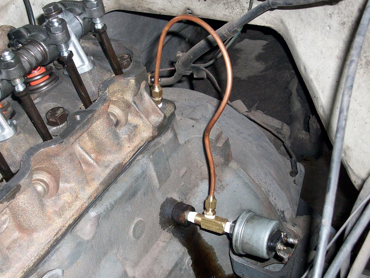Venas de lubricacion del motor tapadas
