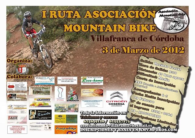 I RUTA ASOCIACION MOUNTANBIKE VILLAFRANCA 3 de Marzo 2012. 1C4F914856344F230409294F2303DA