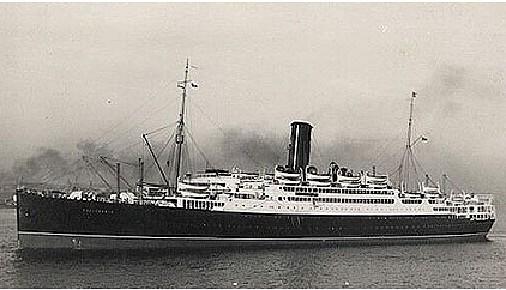 El SS California como buque civil de pasaje