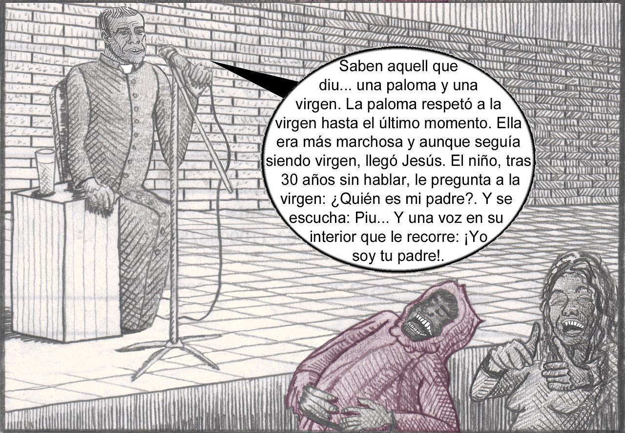 viñeta cura católico como humorista Eugenio