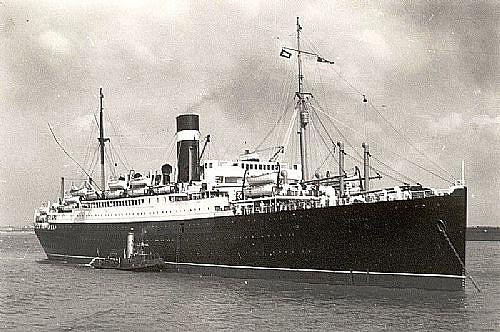 El SS Letitia como buque de pasaje civil antes de la guerra
