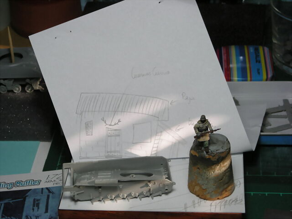 Unosetentaydos panzer iii ausf m en vi eta con granja for Cobertizo de plastico