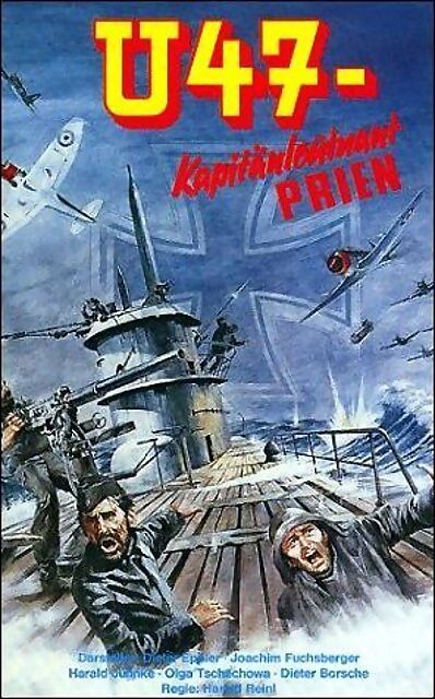 Carátula de la película U-47 Comandante Prien de 1958