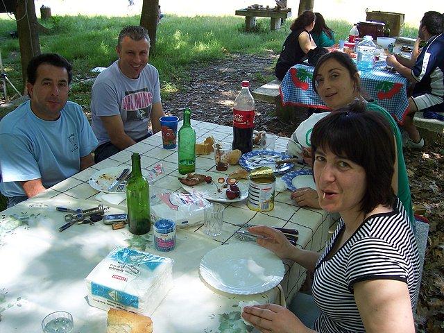 A nosa directiva Ana con seu marido e outros pais