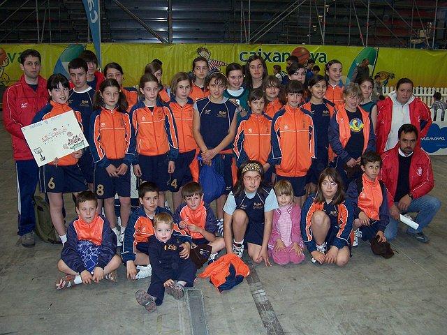 Grupo de xogadores/as que acudiron a Vilagarcía
