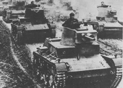 Casi todos los tanques alemanes que cayeron durante la caña polaca