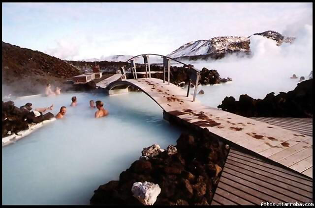 El spa Lago Azul, en Grindavik, Islandia