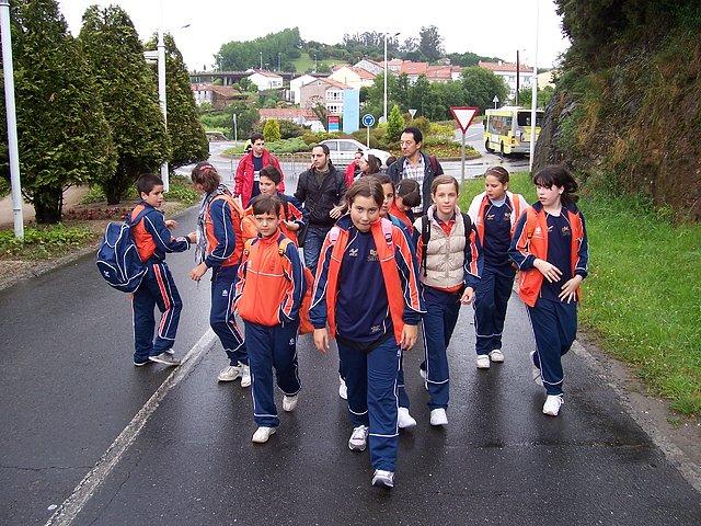 Chegada da expedición a Santiago a primeira hora da mañá