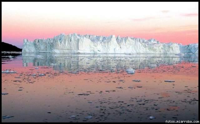 Ilulissat fjord. Groenlandia