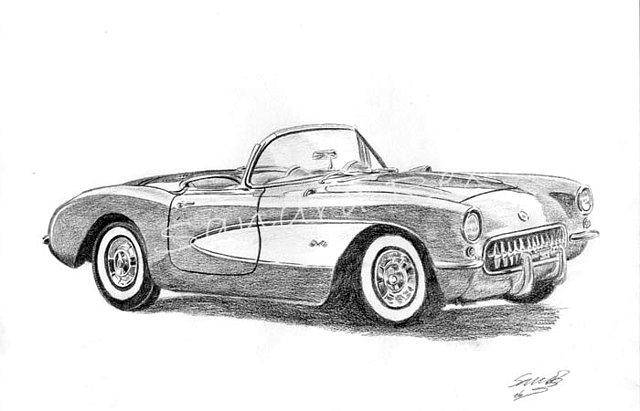 Dibujos a lápiz de autos clásicos - Imagui