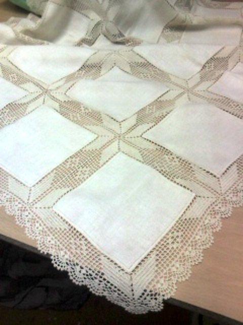 Estrellas de ganchillo madeixas artesania - Manteles de lino ...