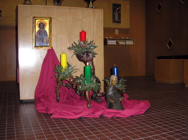 Ceremonia y r brica de la iglesia espa ola corona de - Como decorar la corona de adviento ...