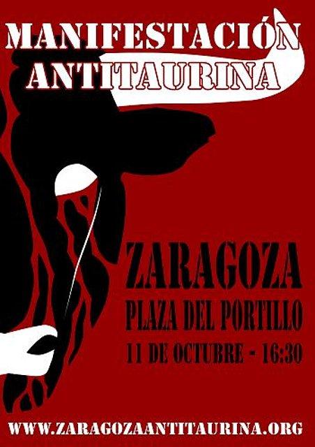 Manifestación Antitaurina en Zaragoza (11 octubre 09) E076aada