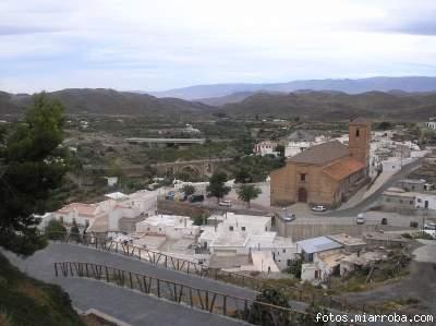 Vista de Gérgal desde el Camino del Castillo