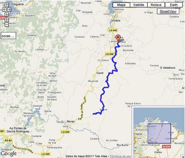 Rego Seco por Chavín-Xerdiz mapa