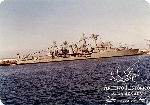 DD-18 Almirante Riveros en 1985