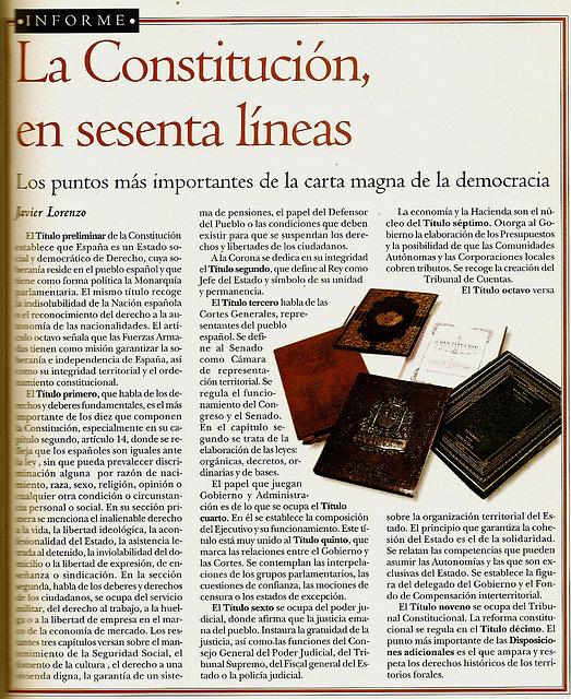 la constitución en sesenta lineas.