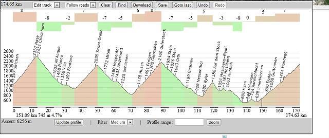 Ullrichen - Grimselpass ----- Nufenenpass , San Gottardo , Sustenpass , Hasliberg y Grimselpass