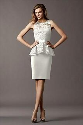Estilo de Pelo Largo Elegante para vestidos de Novia Cortos