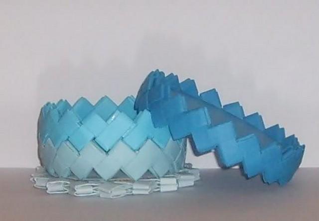caja pequeña en tonos azules