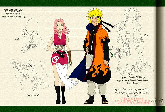 Sakura y Naruto grandes