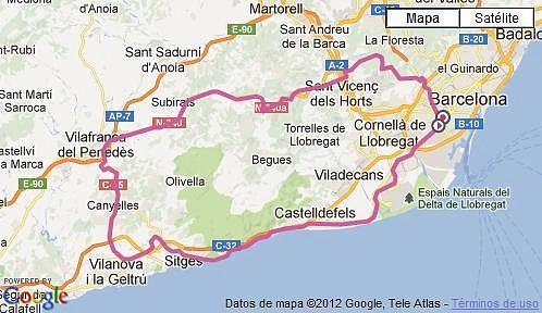 Sitges-Canyelles-Ordal-Sta.Creu 01-11-2012