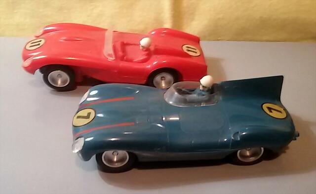 Strombecker Ferrari Testarossa & Jaguar D