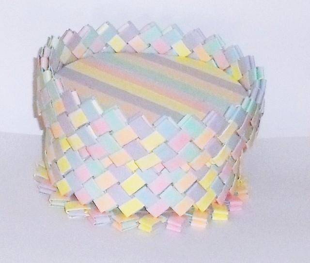Caja en tonos pastel