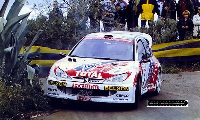 Peugeot 206 WRC 2001 El Corte Ingles Monzon