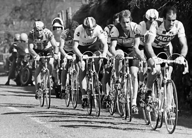 Perico-Vuelta Pais Vasco1985-Recio-Cabestany-Kelly-Lemond-Lejarreta-Pedro Mu?oz